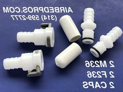 2 M236 + 2 F236 + 2 CAPS Air Bed Parts for Sleep Number® Be