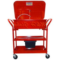 20 Gallon Mobile Parts Washer Cart Drying Shelves Electric P