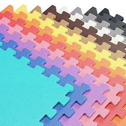 We Sell Mats Multi Color 140 Sq Ft  Foam Interlocking Anti-F