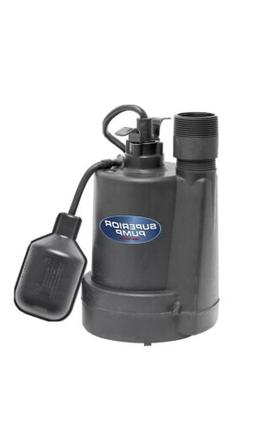 Superior Pump 92250 1/4-Horsepower Thermoplastic Sump Pump w