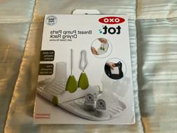 OXO Tot Breast Pump Parts Compact Drying Rack with Detail Br