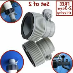 """INTEX 1.25"""" to 1.5"""" Type B Hose Adapters for Pumps & Saltwat"""