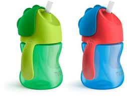 Avent My Bendy 7 Ounce 2 Pack Straw Cup - Blue/Green