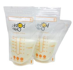 Baby Chan Breast Milk Storage Bags, 100 Count, with Double Z