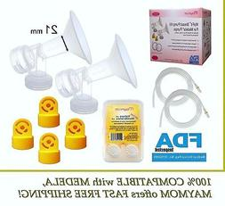 Maymom Breast Pump Kit for Medela Breastpumps, 21 mm Breasts