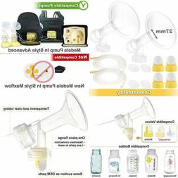 Nenesupply Breastpump kit for Medela Breastpumps with 2 Larg