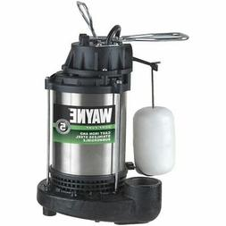 WAYNE CDU1000 1 HP Submersible Cast Iron and Stainless Steel