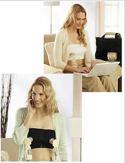 Medela Easy Expression Bustier Hands Free Pumping Bra New Wh