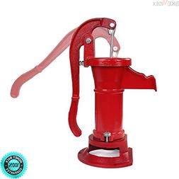 SKEMIDEX Hand Water Pump Well Pitcher Cast Iron Press Suctio