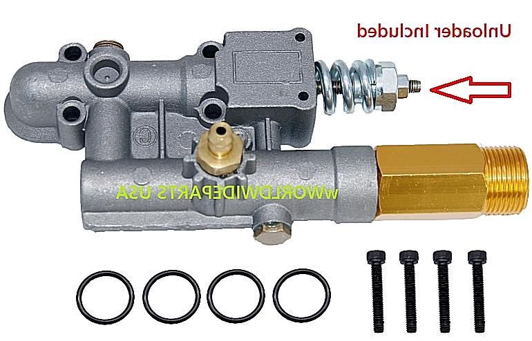 16031 manifold assembly pressure washer pump includes
