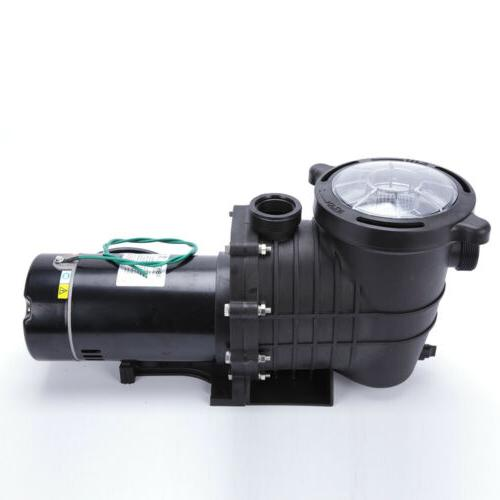 1.5/1HP In/Above Ground Swimming Pool Pump Motor w/Strainer