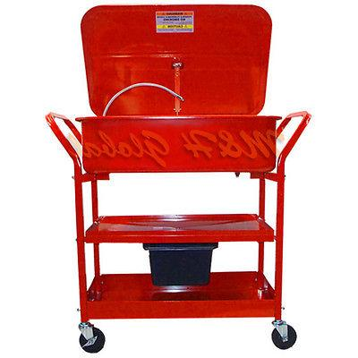 20 gallon mobile parts washer cart drying