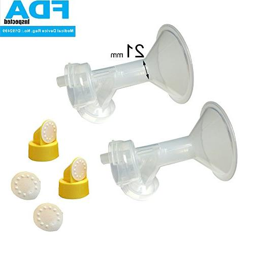 21 mm Small Flagne w/Valve and Membrane for SpeCtra Breast P
