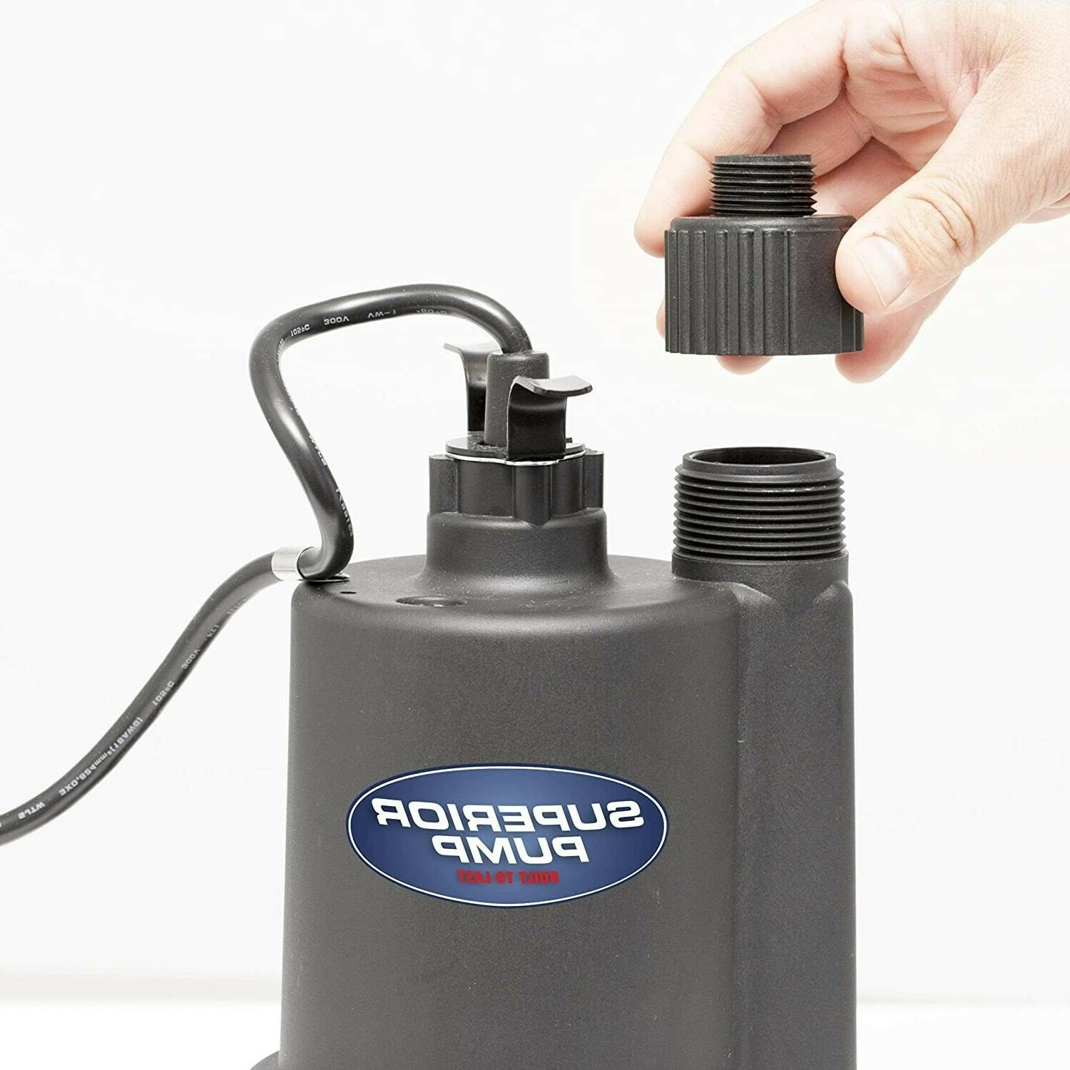 Superior HP Thermoplastic Submersible Utility Pump 10-Foot
