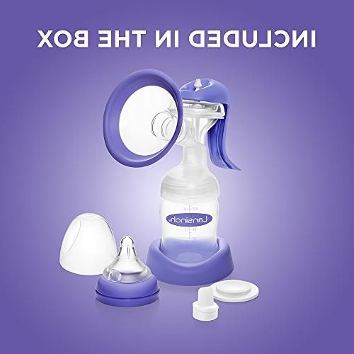 Lansinoh Breast with Stimulation Modes, Portable Breast Pump Compatible with Baby & Breast Milk