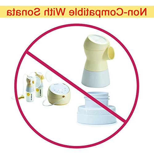 Maymom Conversion Medela Breast Use with Classic Bottles, Avent Natural PP Bottle and Wide-mouth Bottles Thread w Rings; Avent
