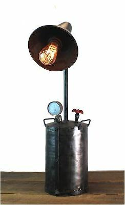 Industrial Style Factory Oil Pump Steampunk Lamp Aged Finish