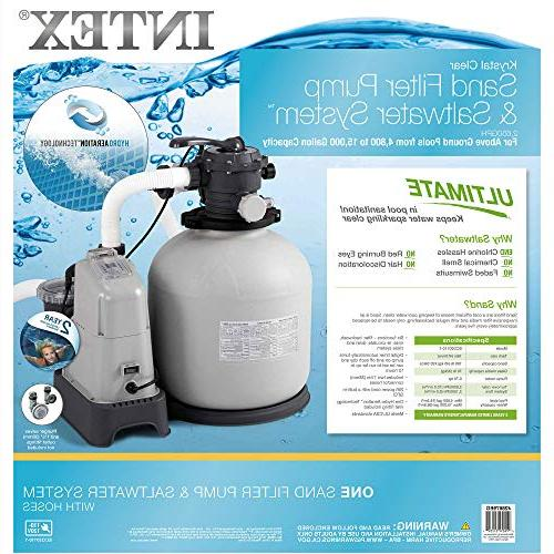 Intex Clear GPH Sand Filter & System E.C.O. for Pools, 110-120V with