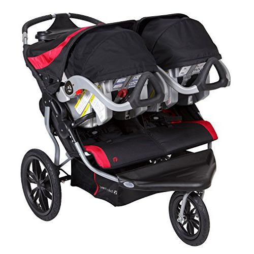 Baby Trend Navigator Lite Double Jogger Stroller, Candy