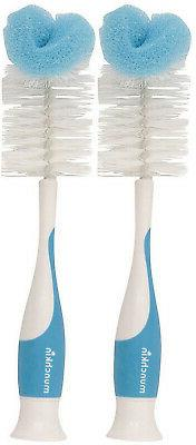 Munchkin 2 Count Sponge Bottle Brush with Nipple Brush, Colo