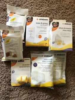 New Medela Bottle Spare Parts, Pump Bags, Quick Clean Wipes,