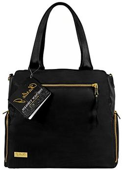 The New Yorker Breast Pump Bag by Charlie G, Black/Gold