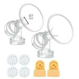 19 mm One-Piece Breastshield w/ Valve, Membrane for Medela B