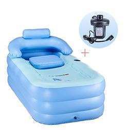 CO-Z PVC Portable Foldable Inflatable Bathtub Free Standing