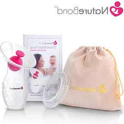 NatureBond Silicone Breastfeeding Manual Breast Pump Milk Sa