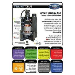 Submersible Thermoplastic Utility Pump 1/4 Horse Power 3/4in