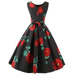 Women Vintage Printing Dress,Clearance! AgrinTol Bodycon Sle